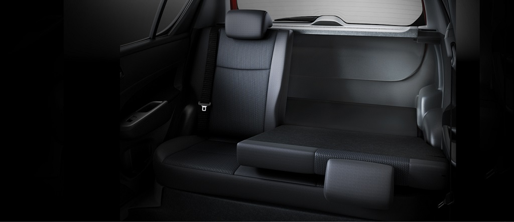 new Swift 60:40 split rear seats