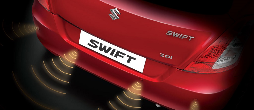 new Swift rear parking sensors