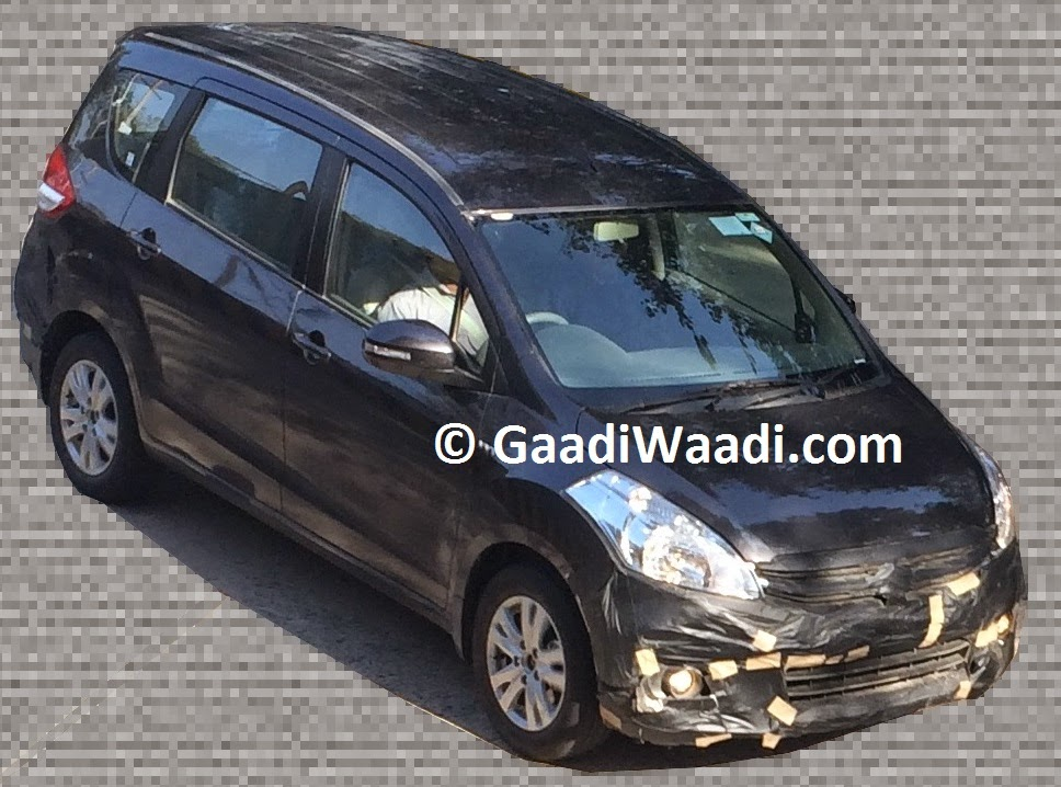 Maruti Ertiga Mid Life Update Spotted To Get New Grille And Alloys