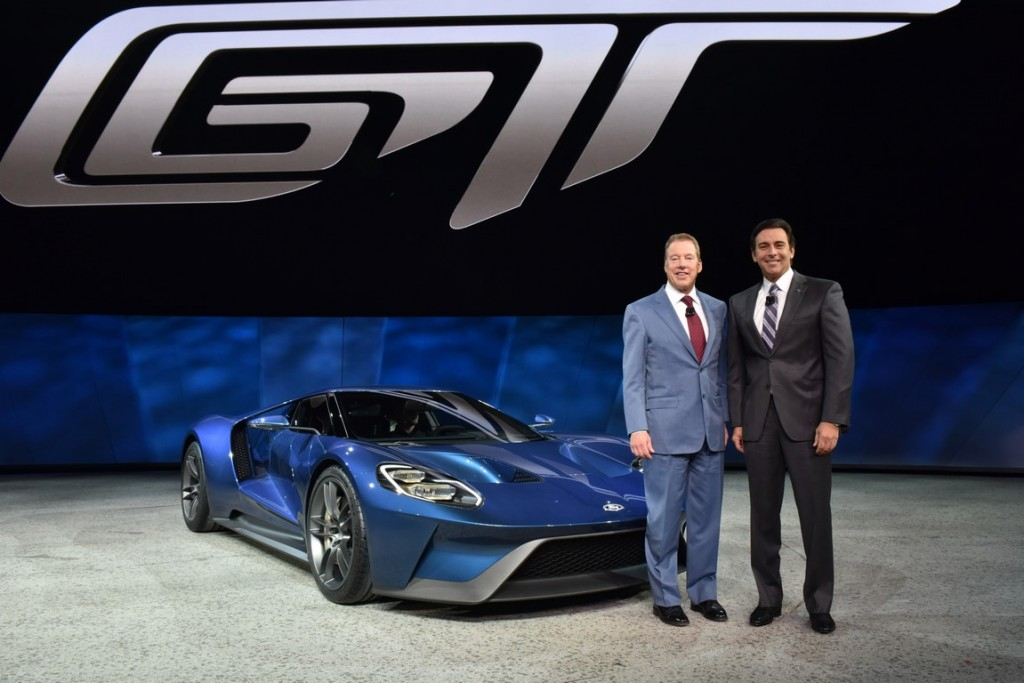 Bill Ford and Mark Fields with Ford GT