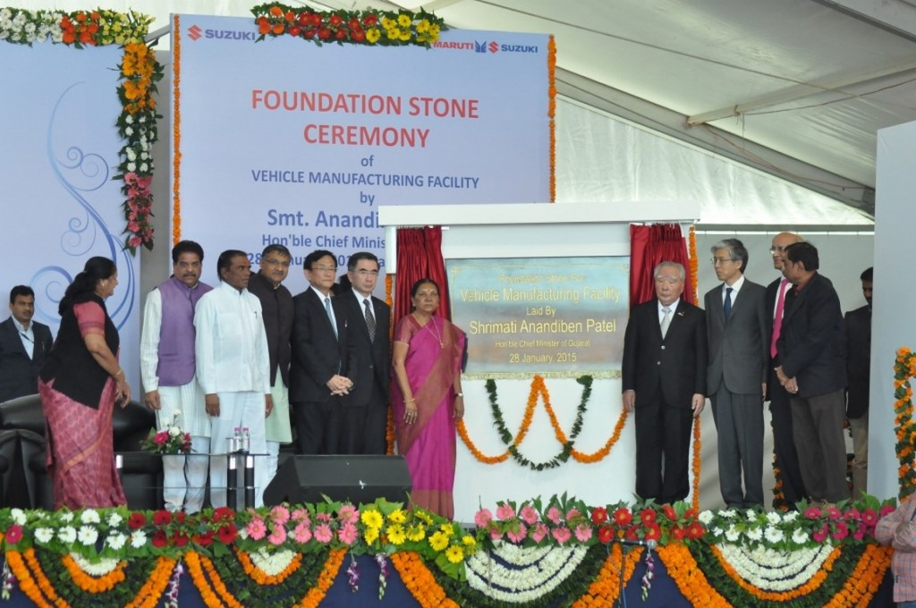 Foundation stone ceremony of vehicle manufacturing plant in Gujarat - 1