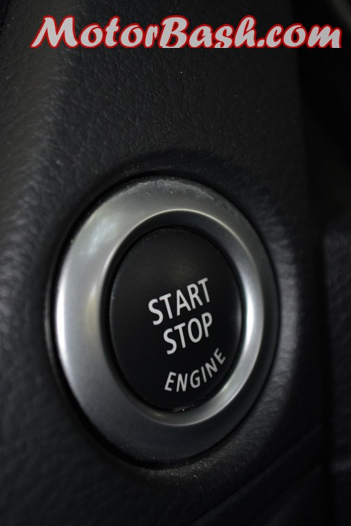 BMW X1 engine start button