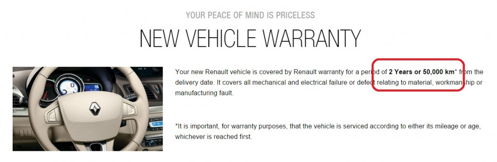 Renault Reduces Standard Warranty Coverage To 2 Years