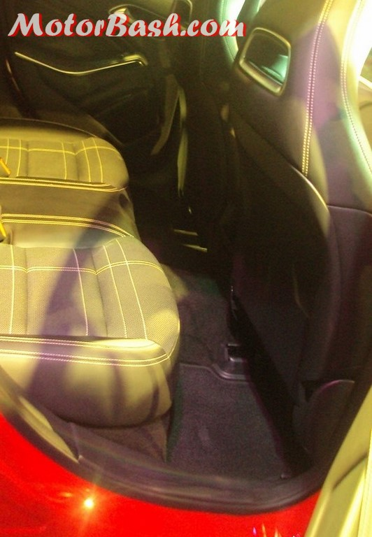 Mercedes A180 rear seats