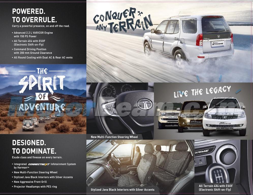 Tata Safari Strome facelift brochure 4