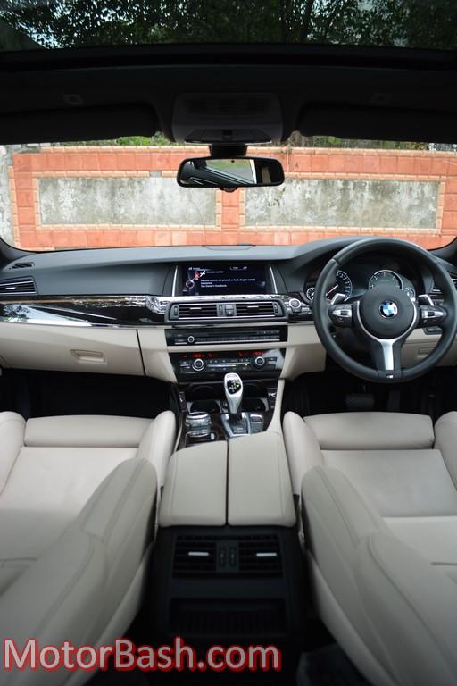 BMW 530d M Sport cabin