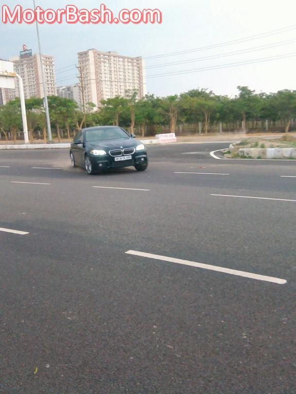 BMW 530d M Sport cornering