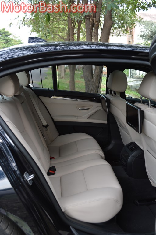 BMW 530d rear seats