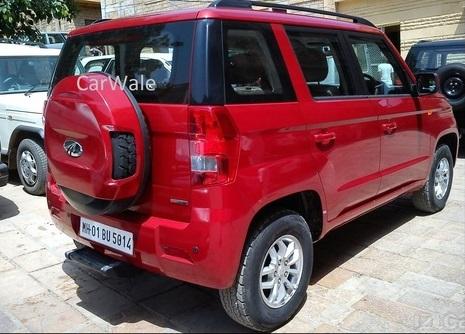 Mahindra-TUV300-Spy-Pics-rear