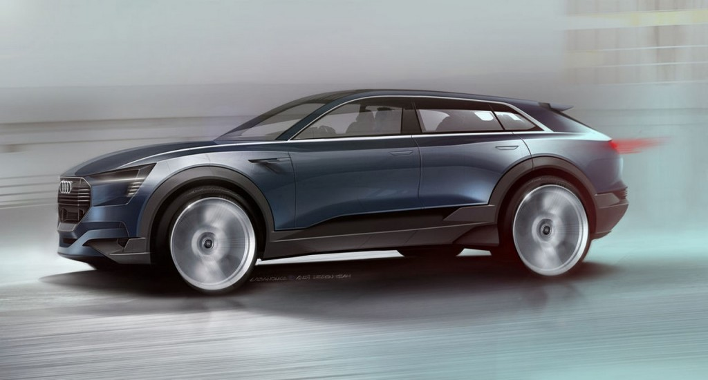 Audi e-tron Quattro side sketch