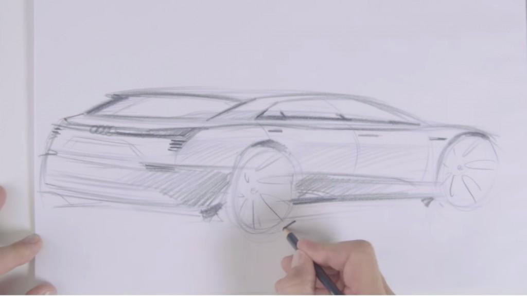 Audi e-tron Quattro sketch
