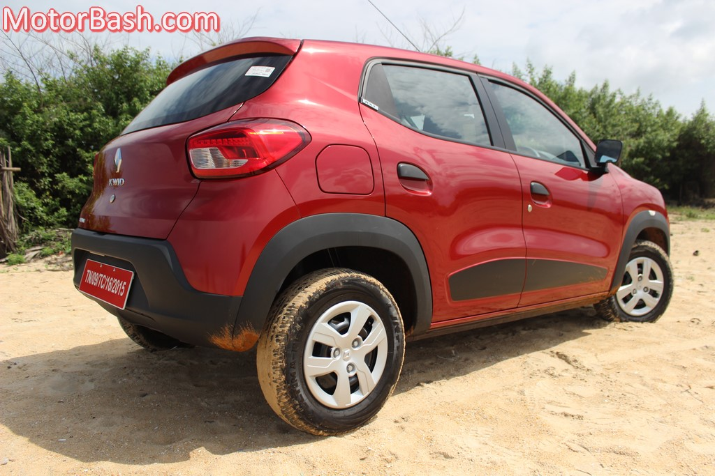 Kwid rear three-quarters