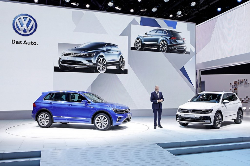 Volkswagen Pressekonferenz auf der IAA Frankfurt 2015