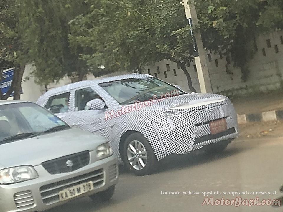 Mahindra Ssangyong Tivoli Spy Pic India Front