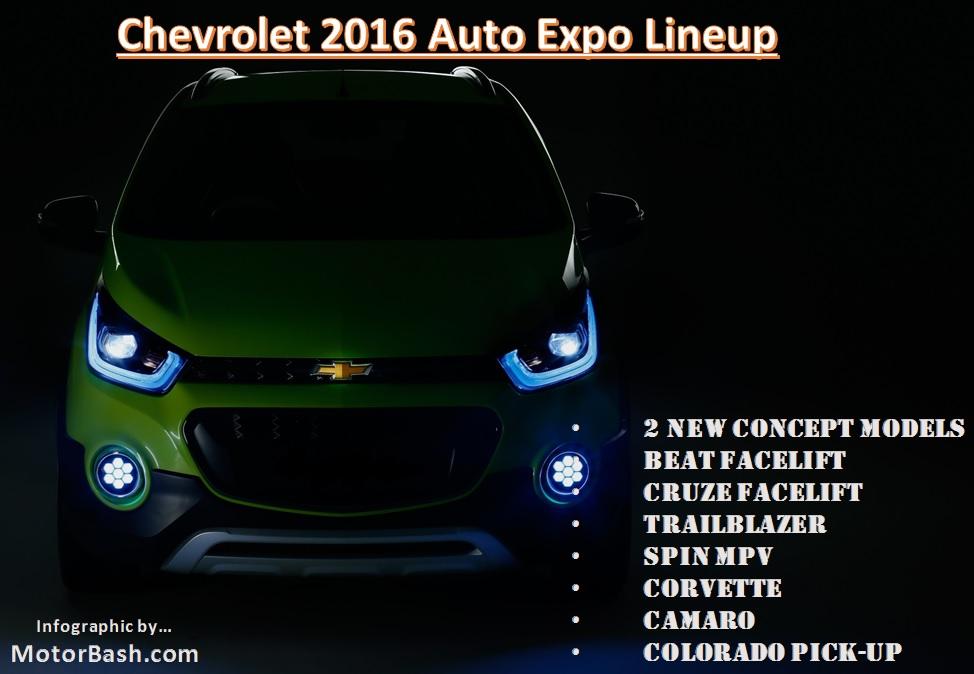 Chevrolet Auto Expo 2016 - Complete Lineup