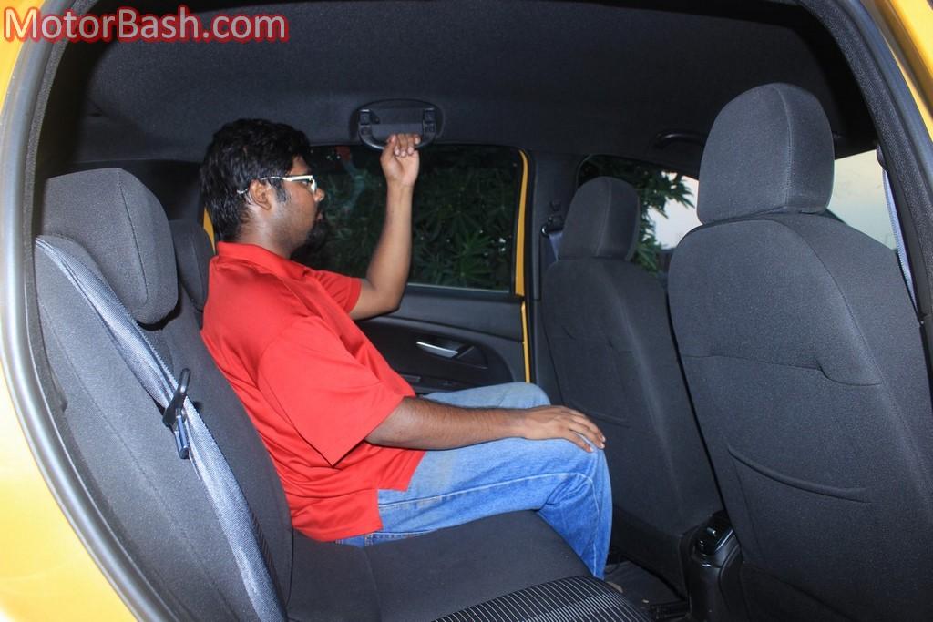 Fiat Punto Evo rear seat comfort