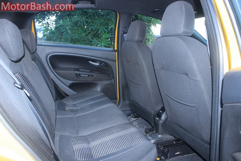 Fiat Punto Evo rear seats