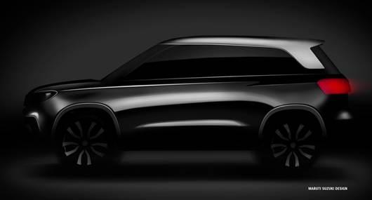 Maruti Vitara Brezza Compact SUV Sketch Pic