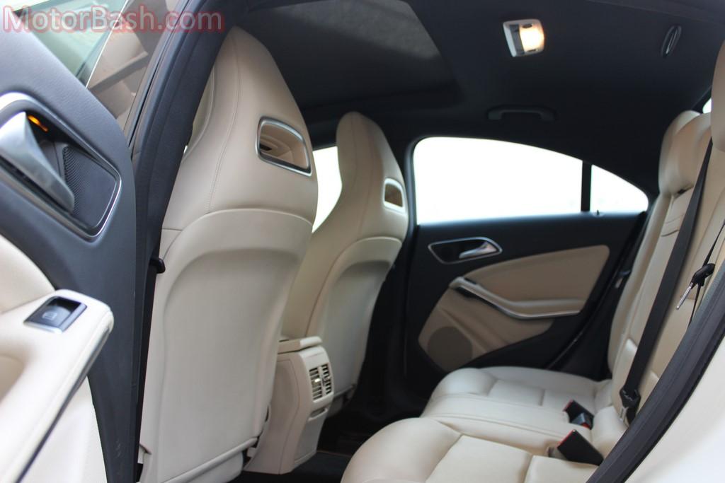 CLA rear seats