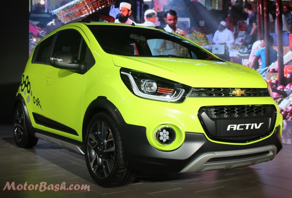 Chevrolet Beat Activ Cross Hatch Pic Green Front Auto Expo 2016