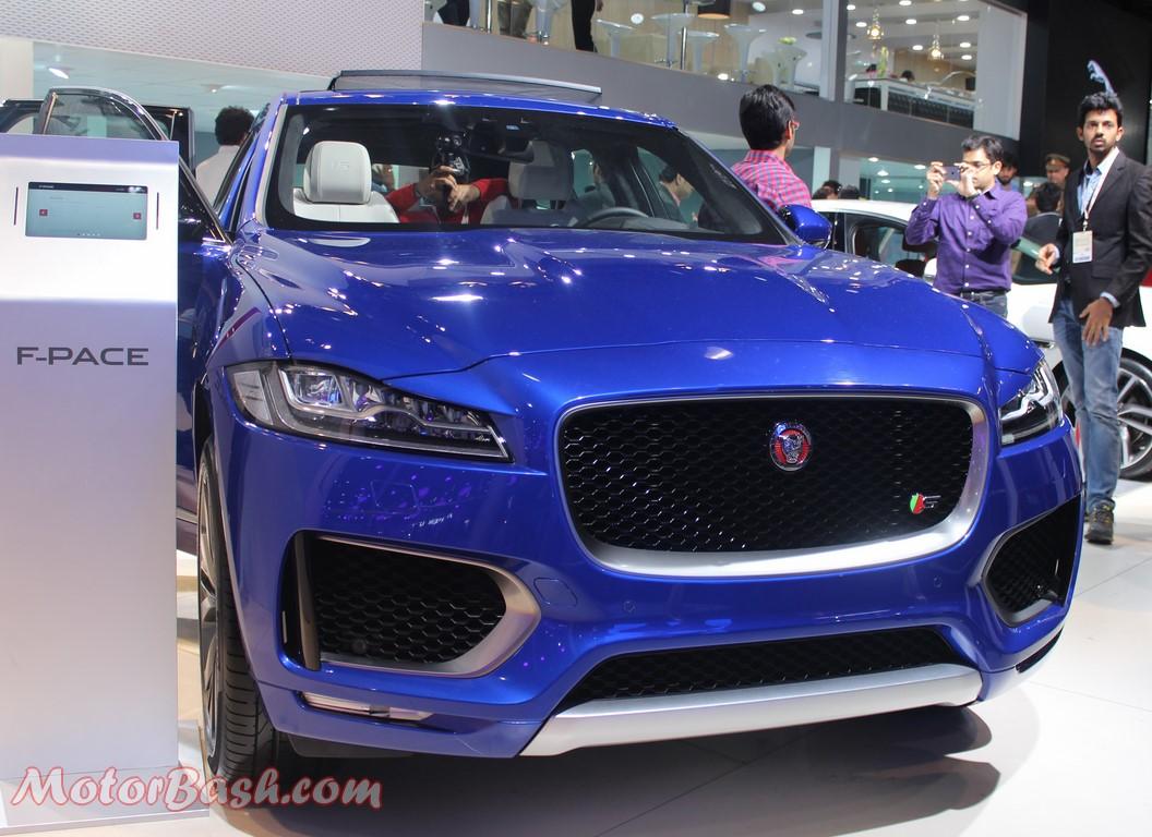 Jaguar F-Pace Blue Pic Auto Expo
