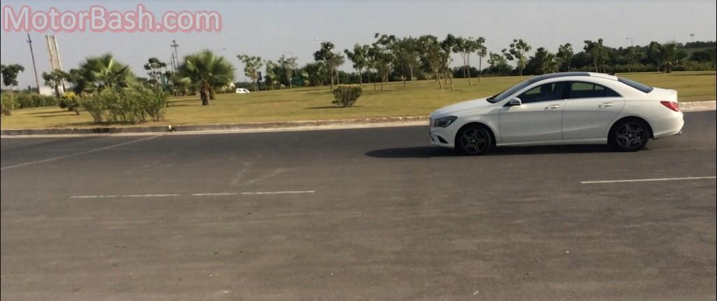 Mercedes CLA cornering