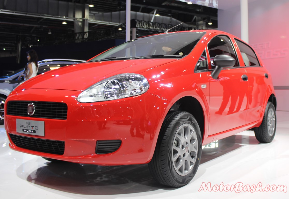 fiat punto pure launched price linea 125s showcased auto expo 2016. Black Bedroom Furniture Sets. Home Design Ideas