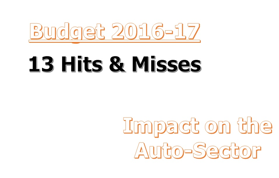 Budget 2016 Impact on Auto Sector
