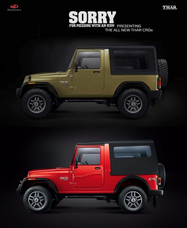 Mahindra Thar rendering comparo side