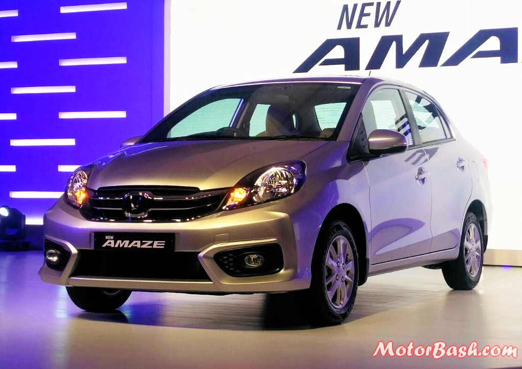 New 2016 Honda Amaze Facelift Pics Front