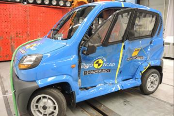 Bajaj Qute NCAP testing 5