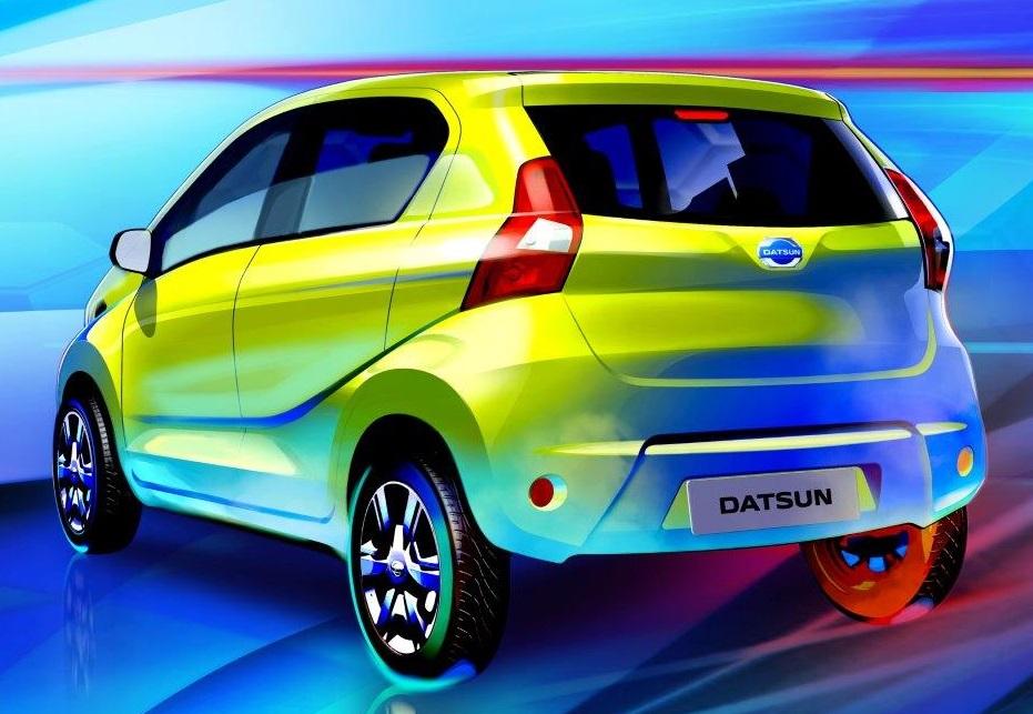 Datsun rediGO sketch pic rear