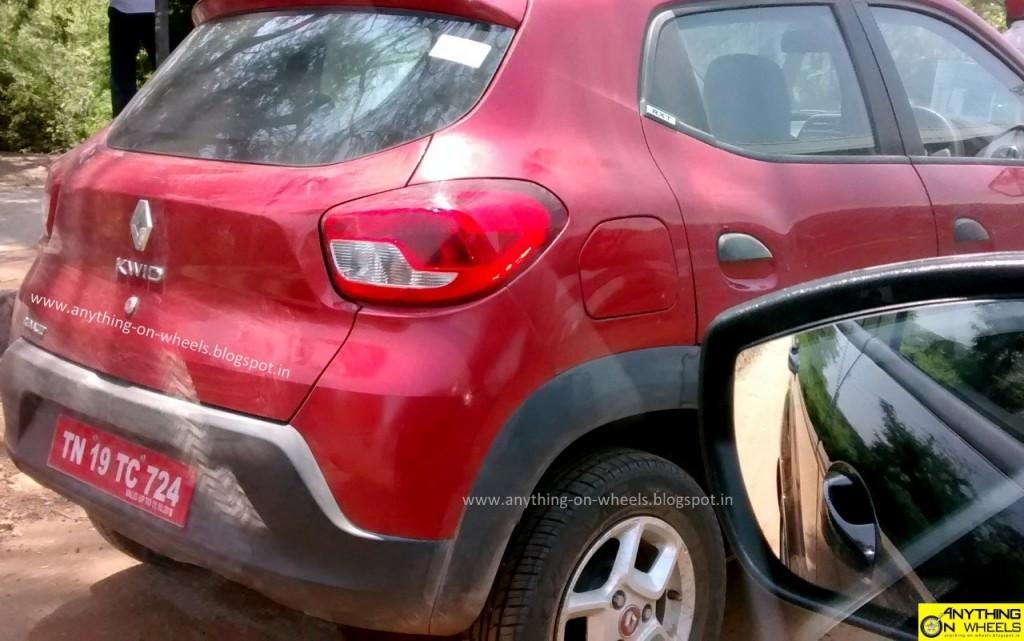 Renault Kwid 1.0 litre red