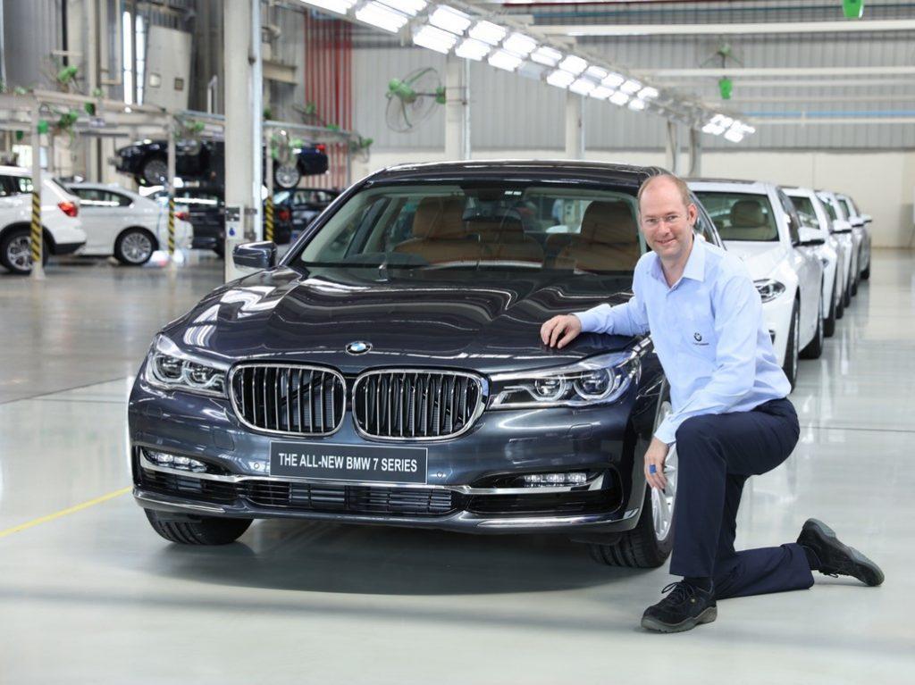 Dr. Stallkamp, MD - BMW Plant Chennai with the 50,000th car