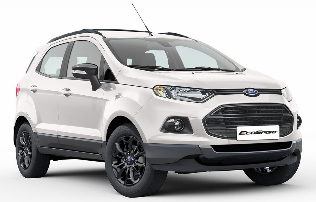 ford ecosport black edition launched pics price variants. Black Bedroom Furniture Sets. Home Design Ideas