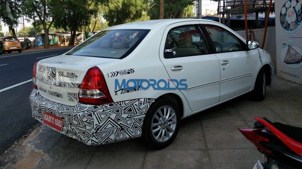 Toyota Etios facelift rear