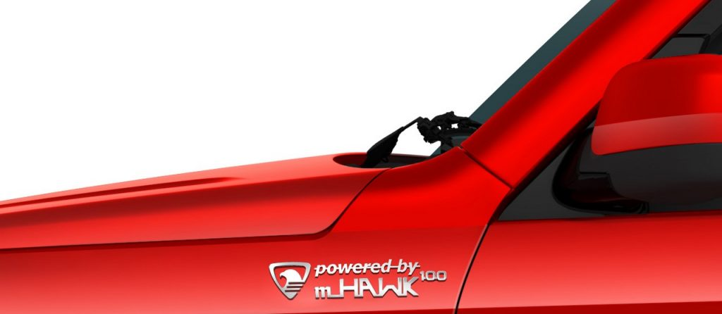 mHAWK100 badging on fender