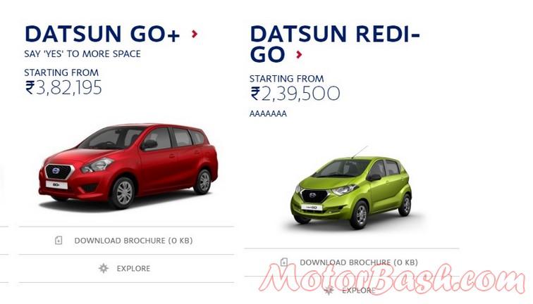Datsun rediGo price