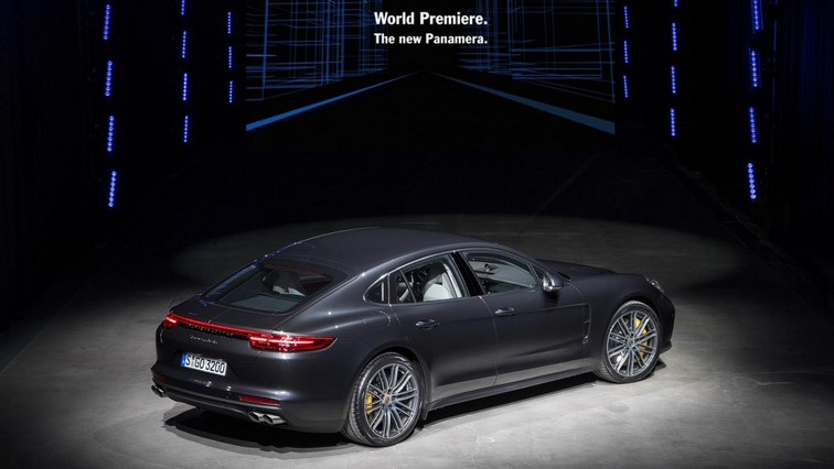 Porsche Panamera rear three quarter 1