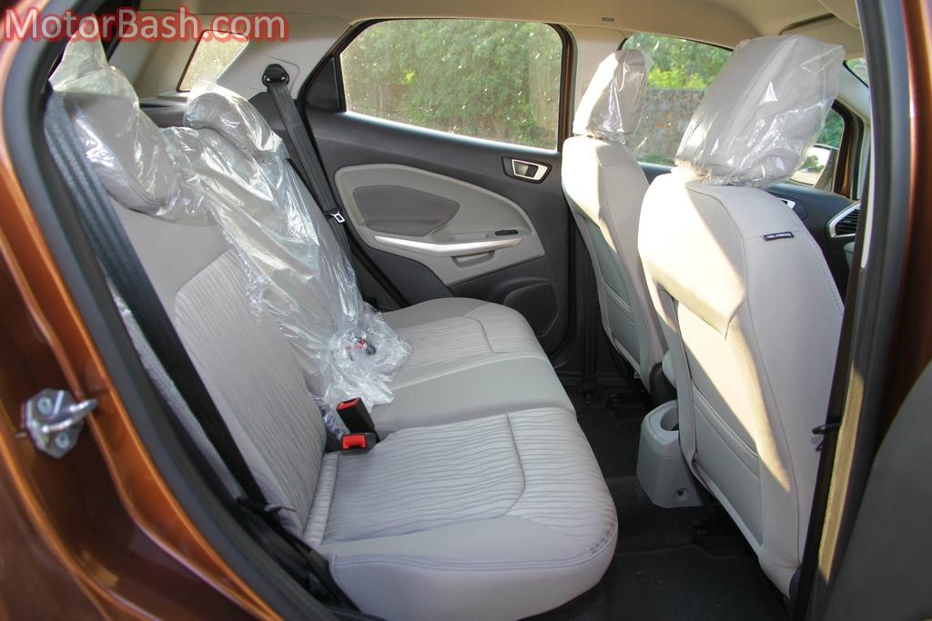 EcoSport rear seats