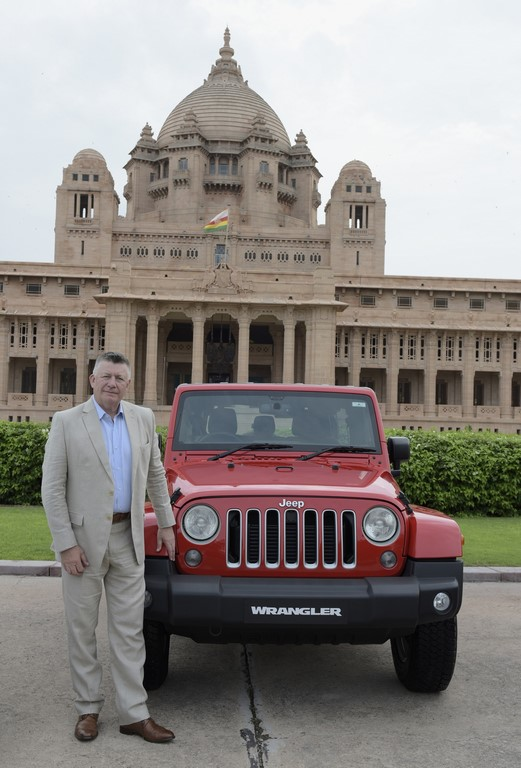 Mr. Kevin Flynn, President and MD, FCA India with Jeep Wrangler