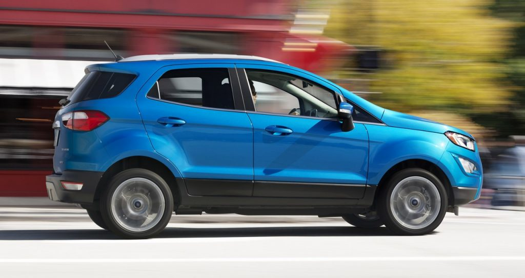 A small but mighty 1.0-liter turbocharged EcoBoost engine, and an available 2.0-liter engine with Intelligent 4WD, make the all-new Ford EcoSport fun to drive in the city and on well-groomed trails.