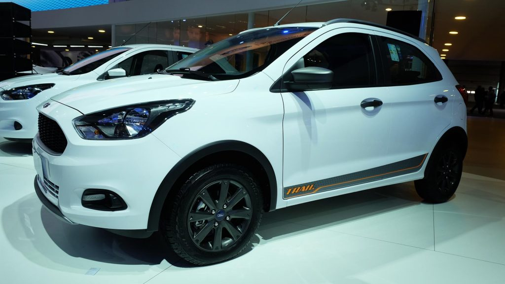 Apart From The Honda Wr V The Sao Paulo Motor Show Saw The Birth Of Another Soft Roader The Ford Ka Trial Based On The Ka Which Is Sold In India As The