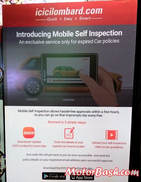 icici mobile self inspection insure app