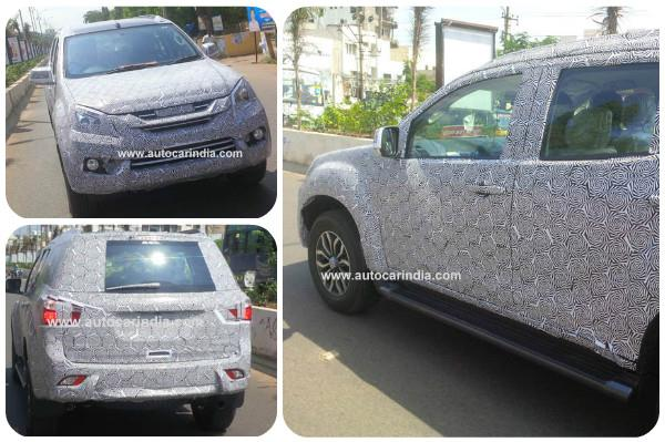 Fortuner-Rival MU-X Spied Testing in India for the First Time