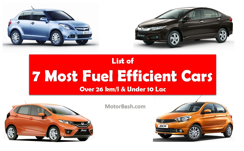 most fuel efficient cars india