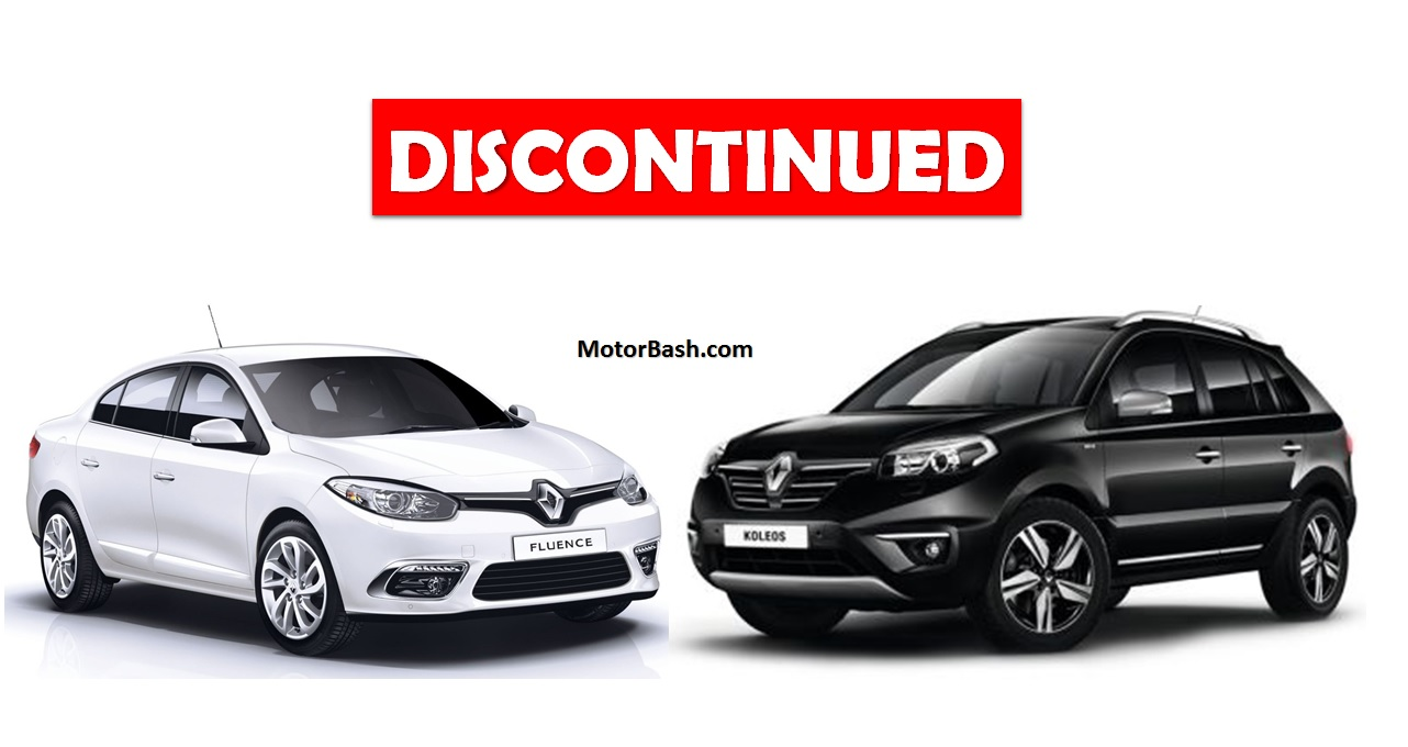 Fluence & Koleos discontinued