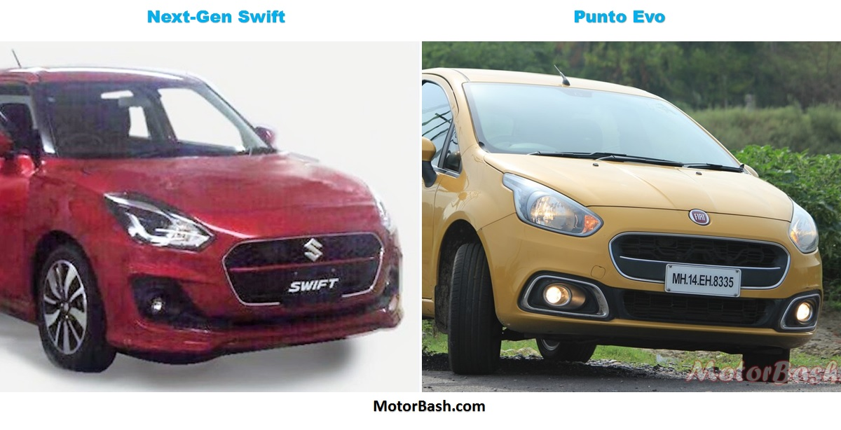 2017 Swift vs Punto Evo Pic