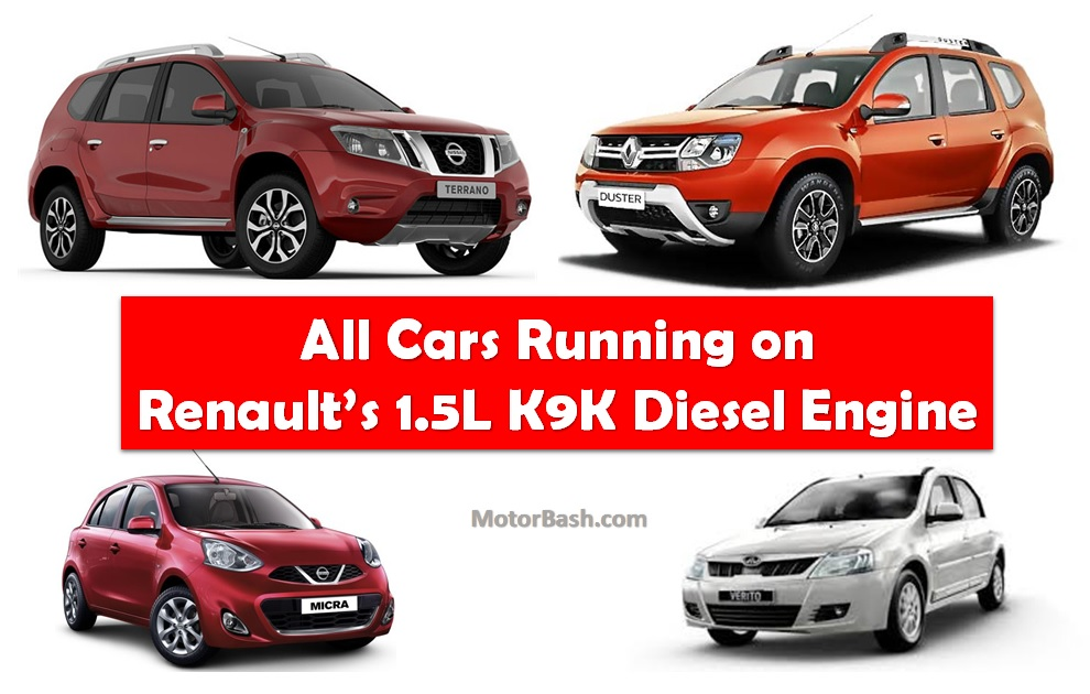 Renault S 1 5l K9k Sel Engine List Of All Indian Cars Using It Updated