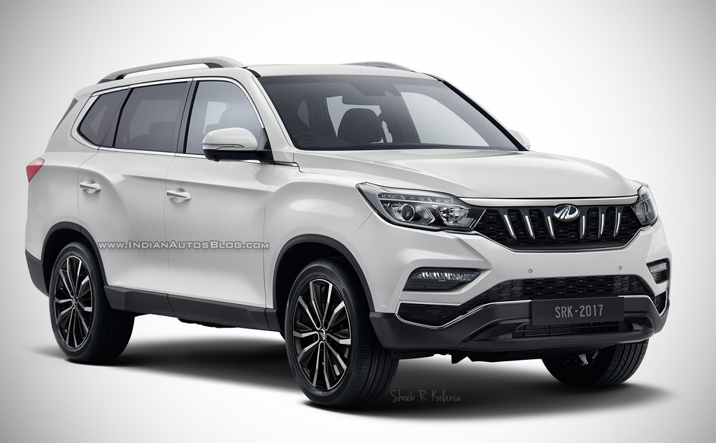 up ing mahindra xuv700 pic rendering based on 2018 rexton